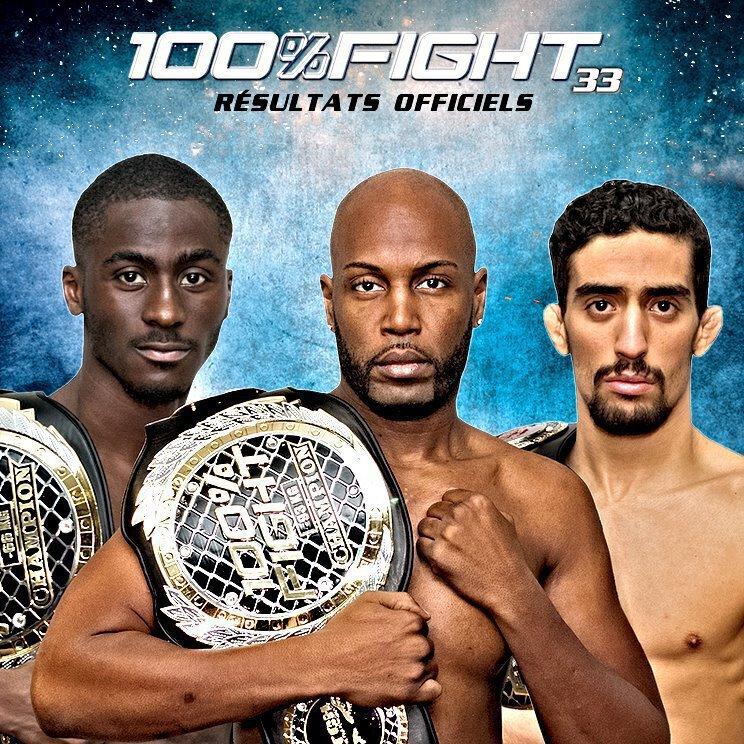 100% FIGHT 33 - Les Résultats