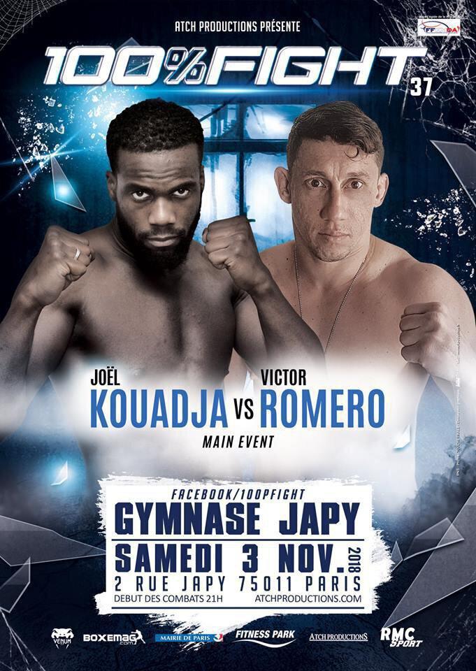 100% FIGHT 37 - KOUADJA vs ROMERO - La carte des combats