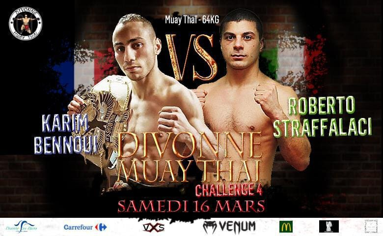 Divonne Muay Thai 4 - Karim BENNOUI prévu en combat vedette !