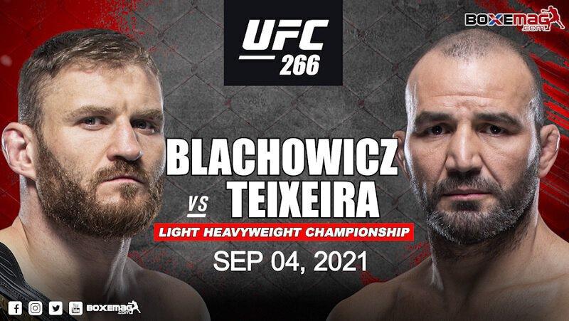 Jan Blachowicz vs. Glover Teixeira prévu pour la ceinture des lourds légers à l'UFC 266