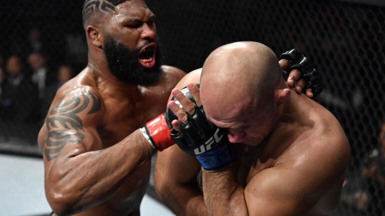 UFC Raleigh resultats: Curtis Blaydes stoppe Junior Dos Santos au deuxième round et demande un combat pour la ceinture