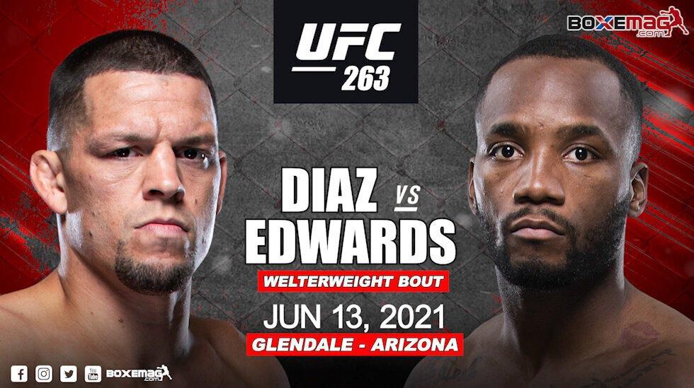 Nate Diaz vs Leon Edwards repoussé à l'UFC 263