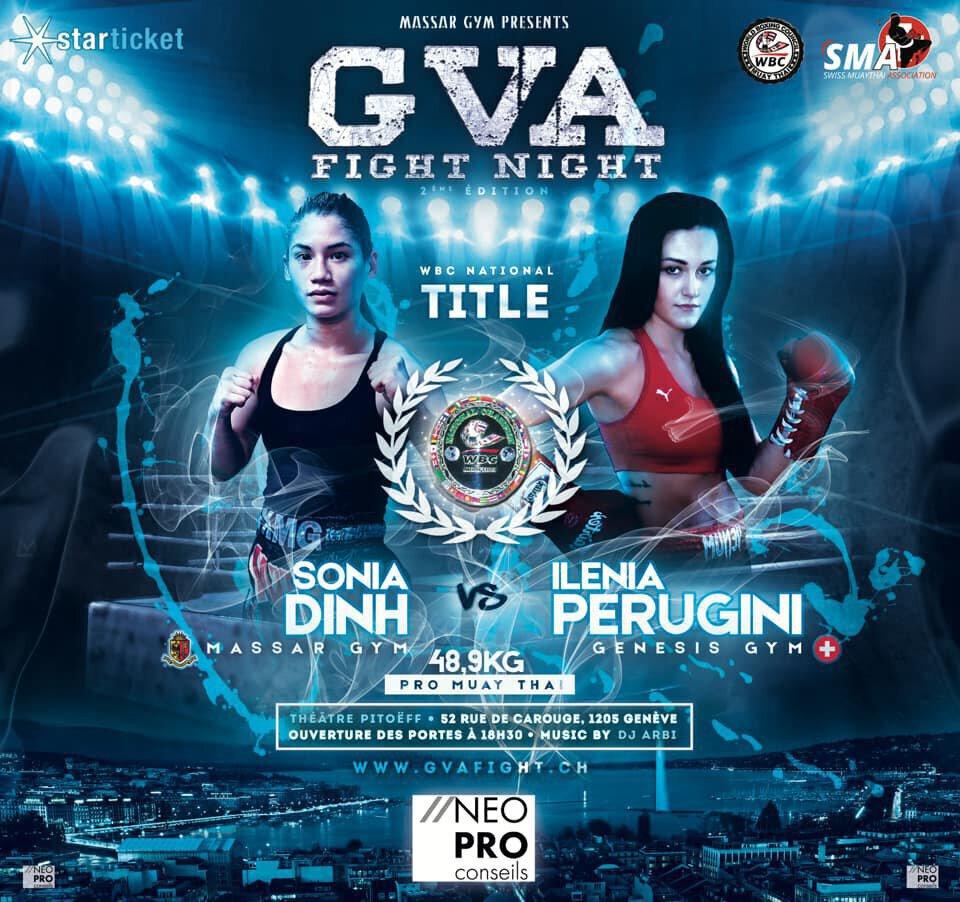 GVA Fight Night 2 - Dinh vs Perugini 2, la ceinture WBC Swiss de nouveau en jeu