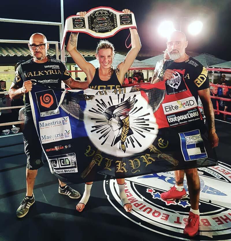 Emma GONGORA remporte une ceinture mondiale en K-1