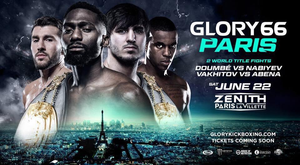 GLORY 66 - Le Glory au Zénith de Paris le 22 juin avec 3 championnats du monde