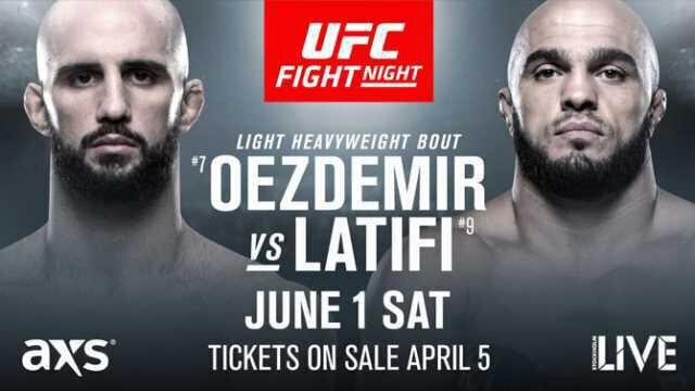 Volkan OEZDEMIR vs Ilir LATIFI officialisé pour l'UFC on ESPN+ 10