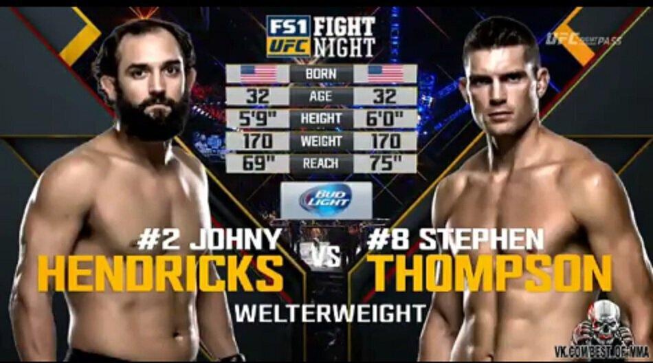 Johny Hendricks vs Stephen Thompson - Full Fight Video - UFC FN 82