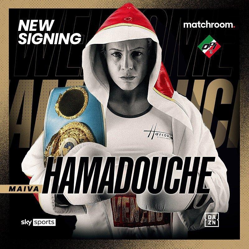 Maiva Hamadouche signe avec Eddie Hearn et OPI Since 82