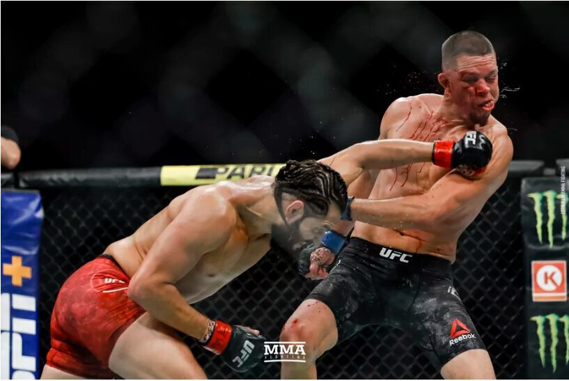 UFC 244 - Jorge MASVIDAL s'impose sur Nate DIAZ par arrêt médical - VIDEO