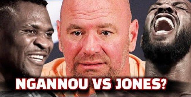 Dana White sceptique quand à la réelle motivation de Francis Ngannou et Jon Jones