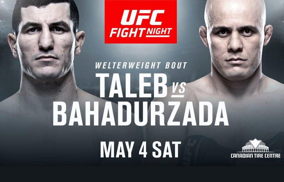 Nordine TALEB vs Siyar BAHADURZADA à l'UFC Ottawa