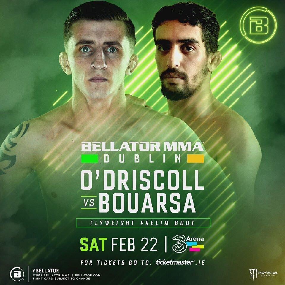 Ezzoubair BOUARSA fera ses débuts au Bellator MMA à Dublin