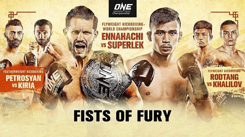 ONE - Petrosyan vs Kiria 2 - Ennahachi vs Superlek - Direct live et Résultats