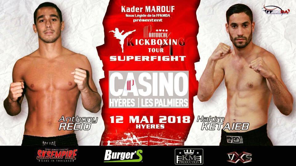 Partouche Kickboxing Tour 2018 - Etape 3 Hyères - Fight Card