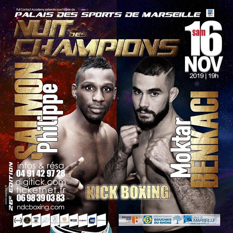 Moktar BENKACI de retour en K-1 face à Philippe SALMON à la Nuit des Champions