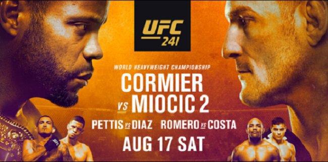 UFC 241 - CORMIER vs MIOCIC 2 - Direct Live Stream et Résultats