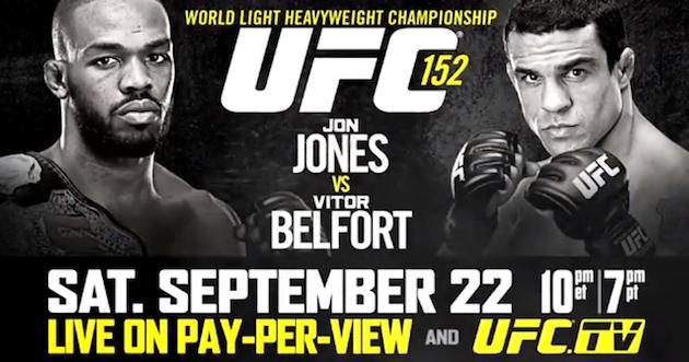 UFC 152 - Jones vs Belfort - Vidéo Full event.