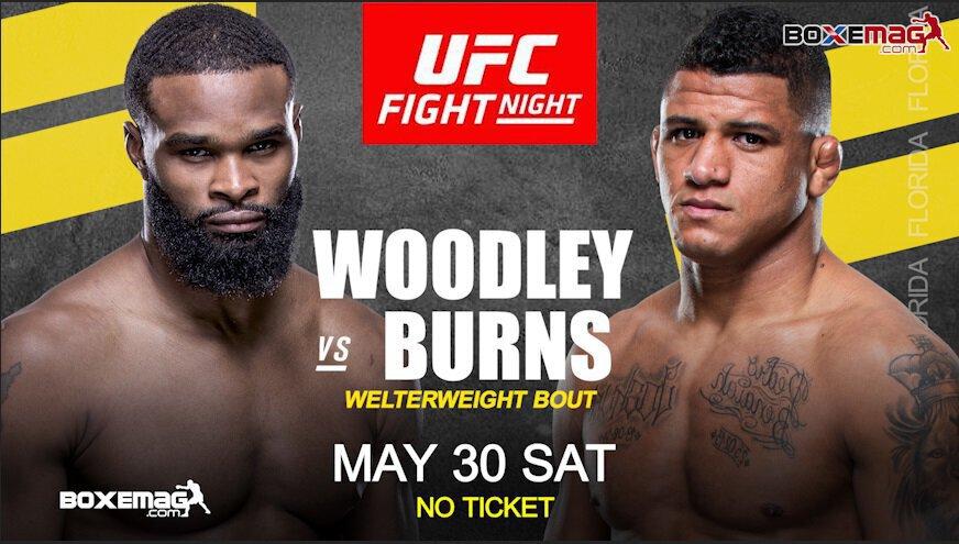 UFC - Tyron Woodley et Gilbert Burns s'affronteront le 30 mai