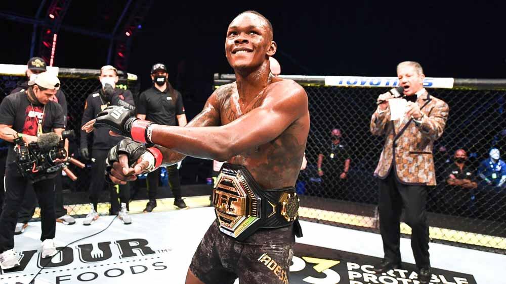 Salaires UFC 263 - Adesanya prend 792K, Diaz 521K.