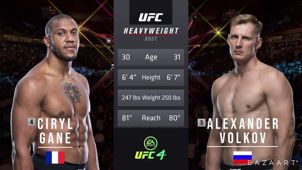 Ciryl Gane vs Alexander Volkov - Replay du combat - Vidéo UFC