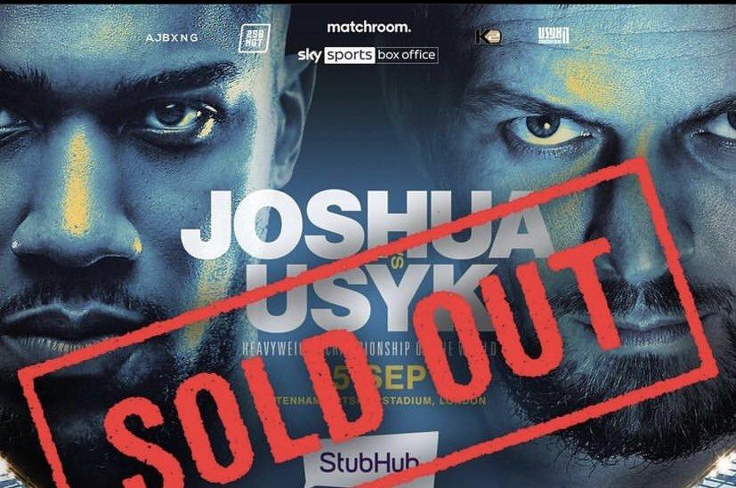 Anthony Joshua vs Oleksandr Usyk - Plus de 60 000 places vendues en 24h